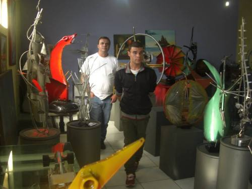 Policarpo & Rodrigo in the Showroom. Picture courtesy of Andreia Sato.